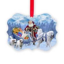 Great Pyrenees Ornament - Pyrs And Santa