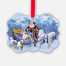 Great Pyrenees Ornament - Pyrs And Santa