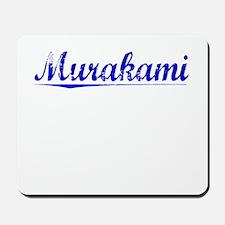 Murakami, Blue, Aged Mousepad