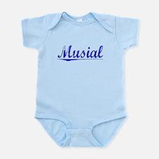 Musial, Blue, Aged Infant Bodysuit