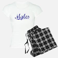 Myles, Blue, Aged Pajamas