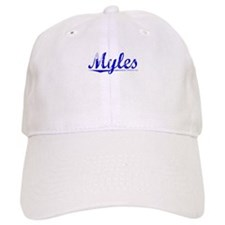 Myles, Blue, Aged Baseball Cap