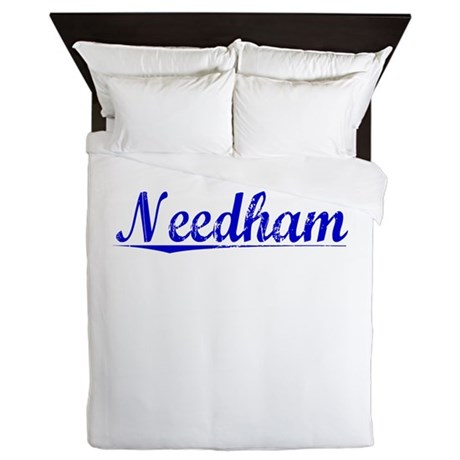 Needham, Blue, Aged Queen Duvet