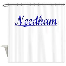Needham, Blue, Aged Shower Curtain
