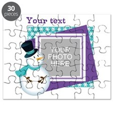 Personalized Christmas Snowman Puzzle