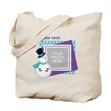 Personalized Christmas Snowman Tote Bag