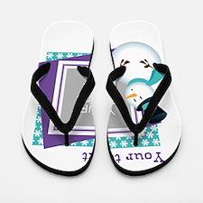 Personalized Christmas Snowman Flip Flops
