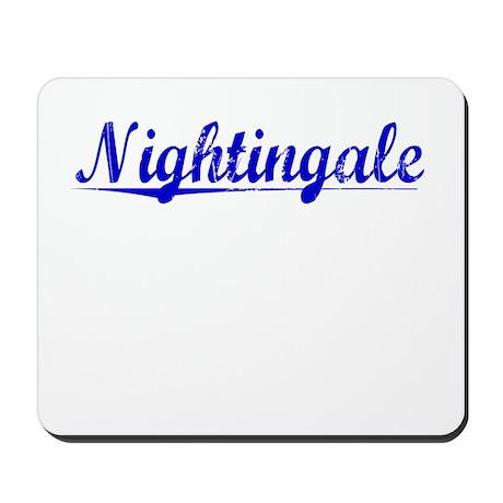 Nightingale, Blue, Aged Mousepad