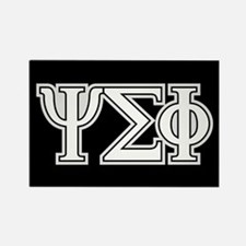 Psi Sigma Phi Letters Rectangle Magnet