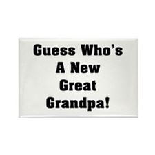 Guess Who Great Grandpa Rectangle Magnet