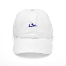 Olin, Blue, Aged Baseball Cap
