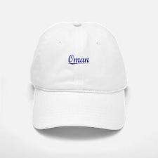 Oman, Blue, Aged Baseball Baseball Cap