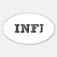 INFJ New! Oval Decal