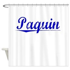 Paquin, Blue, Aged Shower Curtain