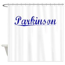 Parkinson, Blue, Aged Shower Curtain