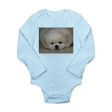 Pekingese Puppy Long Sleeve Infant Bodysuit