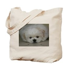 Pekingese Puppy Tote Bag