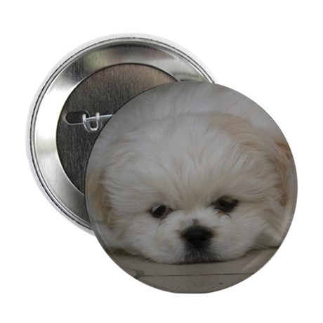 """Pekingese Puppy 2.25"""" Button"""