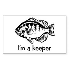 I'm a keeper Rectangle Decal