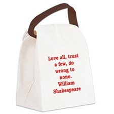 william shakespeare Canvas Lunch Bag