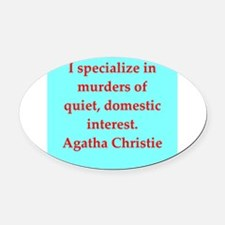 chrustie2.png Oval Car Magnet