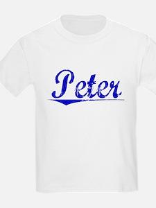 Peter, Blue, Aged T-Shirt