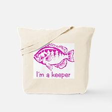 I'm a keeper (pink) Tote Bag