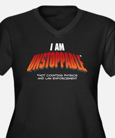 Unstoppable Women's Plus Size V-Neck Dark T-Shirt
