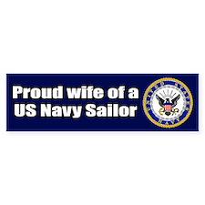 Navy Wife Bumper Bumper Sticker