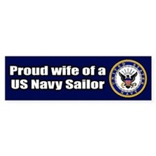 Navy Wife Bumper Car Sticker