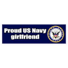 Navy Girlfriend Bumper Car Car Sticker
