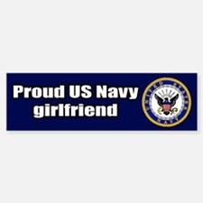 Navy Girlfriend Bumper Car Car Sticker