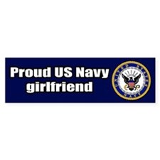 Navy Girlfriend Bumper Car Sticker