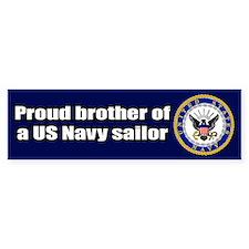 Navy Brother Bumper Bumper Sticker