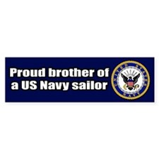 Navy Brother Bumper Bumper Stickers