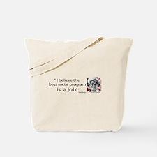 Ronald Reagan on Social Programs Tote Bag