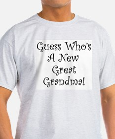 Guess Who Great Grandma Ash Grey T-Shirt