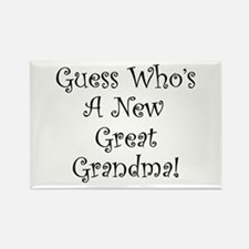 Guess Who Great Grandma Rectangle Magnet
