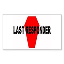 LAST RESPONDER Rectangle Decal