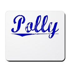 Polly, Blue, Aged Mousepad