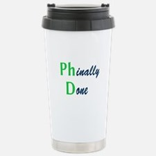 Phinally Done Green Stainless Steel Travel Mug