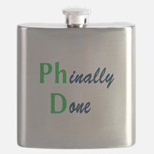 Phinally Done Green Flask