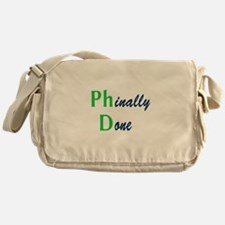 Phinally Done Green Messenger Bag