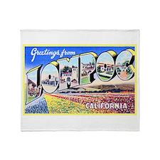 Lompoc California Greetings Throw Blanket