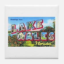 Lake Wales Florida Greetings Tile Coaster