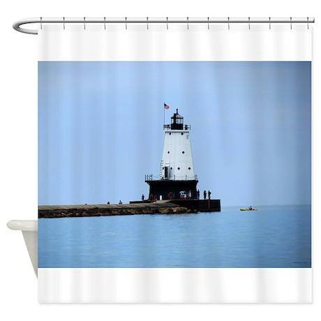 Ludington Lighthouse Shower Curtain