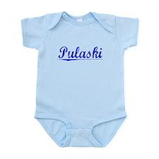 Pulaski, Blue, Aged Infant Bodysuit