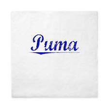 Puma, Blue, Aged Queen Duvet
