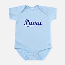 Puma, Blue, Aged Infant Bodysuit