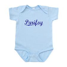 Purifoy, Blue, Aged Infant Bodysuit